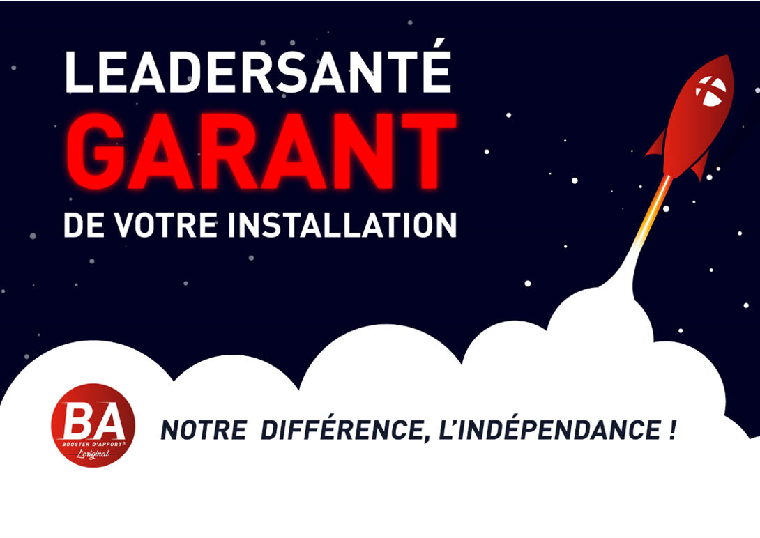 Le booster d'apport by Leadersanté - Installation